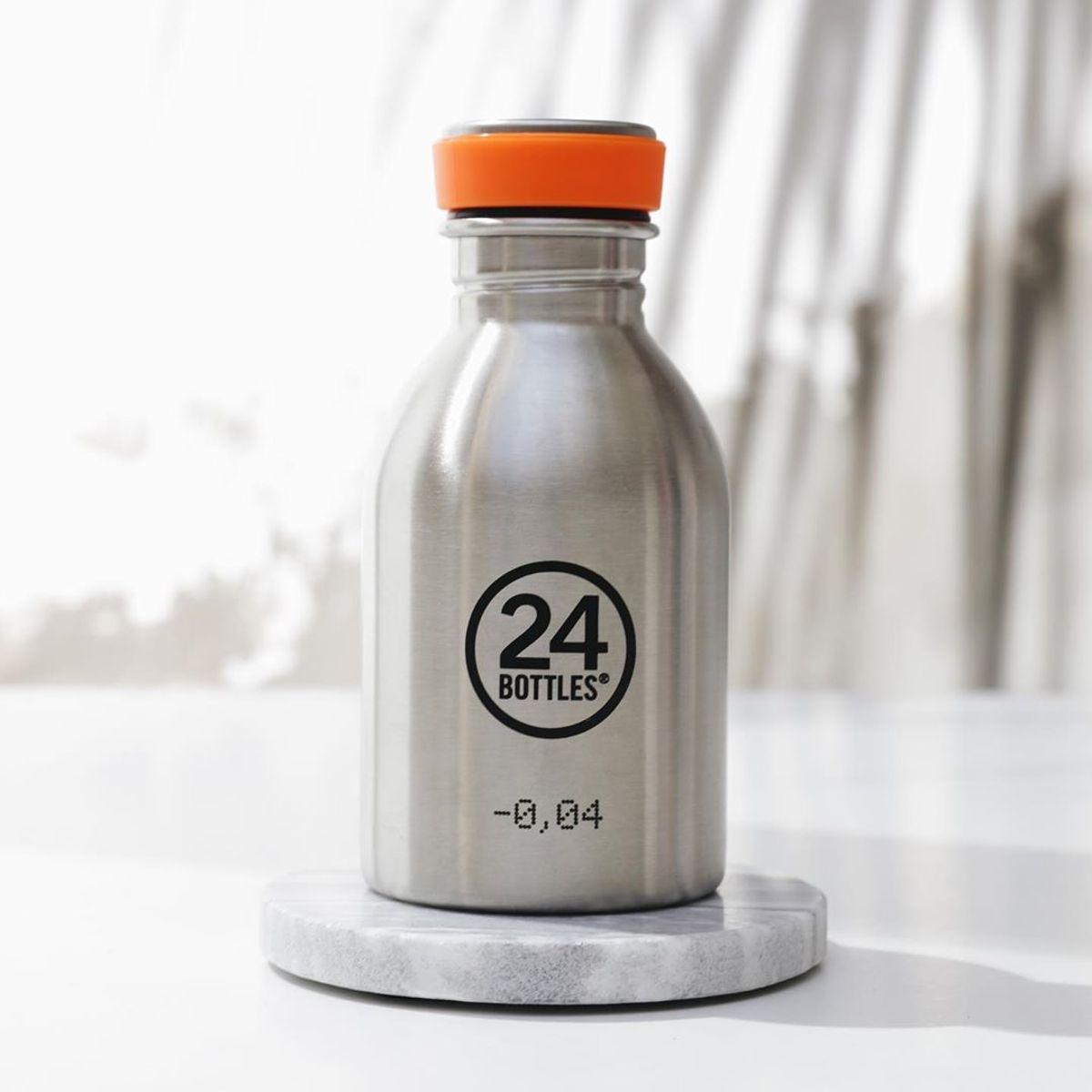 """まだ、「ペットボトルの水」 買ってるの? 《URBAN-250ml STEEL》""""私らしさ""""を選べる、イタリアンデザイン光る「マイボトル」 24Bottles"""