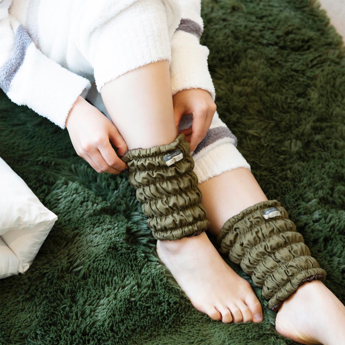 """今日から""""温めるだけ""""健康法 《肌側シルクタイプ/MONOCO限定色》11種の天然鉱物の力で、足首からホッカホカ。一晩中着けてもラクな「足首ウォーマー」  IONDOCTOR"""