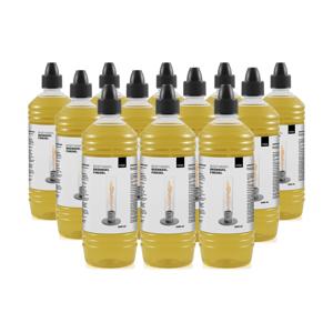 《オプション/詰め替え用燃料ボトル1ℓ × 12本セット》煙やニオイがほとんど出ない、安全仕様の「SPIN」専用ジェル状燃料|Höfats