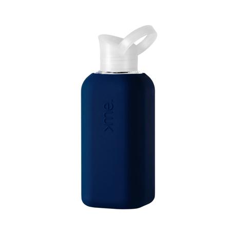 あらためて、「常温の水」ってうまい!|ホットもOK!口当りのよい手づくりガラス製マイボトル|Squireme|Navy