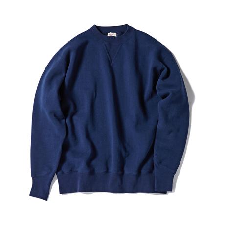 100年前のスウェット、復刻|《NAVY/トレーニングシャツ》腕元をすっきりと見せる独自のディテール、スポルディング社の名作から再構築されたスウェット|A.G. Spalding & Bros|S