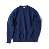 100年前のスウェット、復刻|《NAVY/トレーニングシャツ》腕元をすっきりと見せる独自のディテール、スポルディング社の名作から再構築されたスウェット|A.G. Spalding & Bros|L