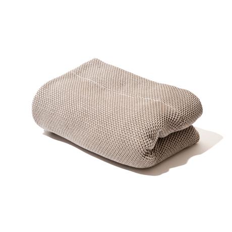 「熟睡」を追求したタオルケット|《シングルケット》凹凸状のハニカム織りが、汗と湿気を逃がすケット|ハニカムケット|ブラウン