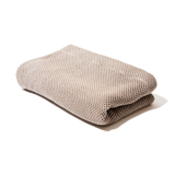 「熟睡」を追求したタオルケット|《ハーフケット》凹凸状のハニカム織りが、汗と湿気を逃がすケット|ハニカムケット|ブラウン