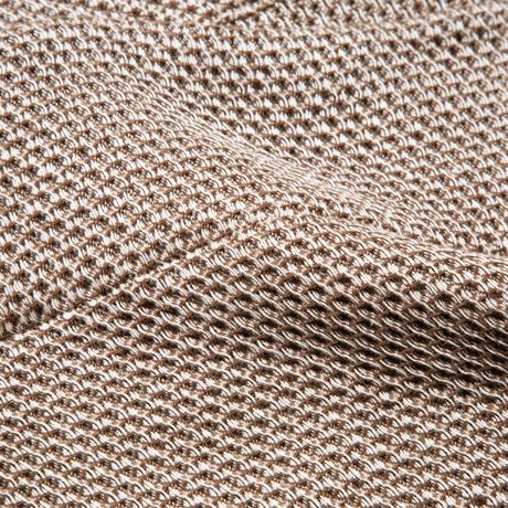 「熟睡」を追求したタオルケット 《ハーフケット》凹凸状のハニカム織りが、汗と湿気を逃がすケット ハニカムケット ブラウン