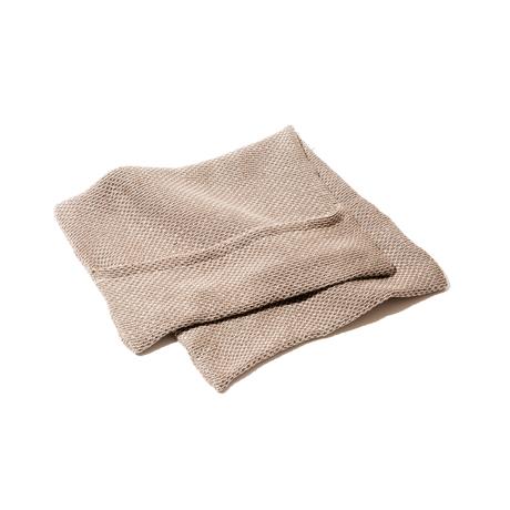 「熟睡」を追求したタオルケット|《ピローケース》凹凸状のハニカム織りが、汗と湿気を逃がすケット|ハニカムケット|ブラウン