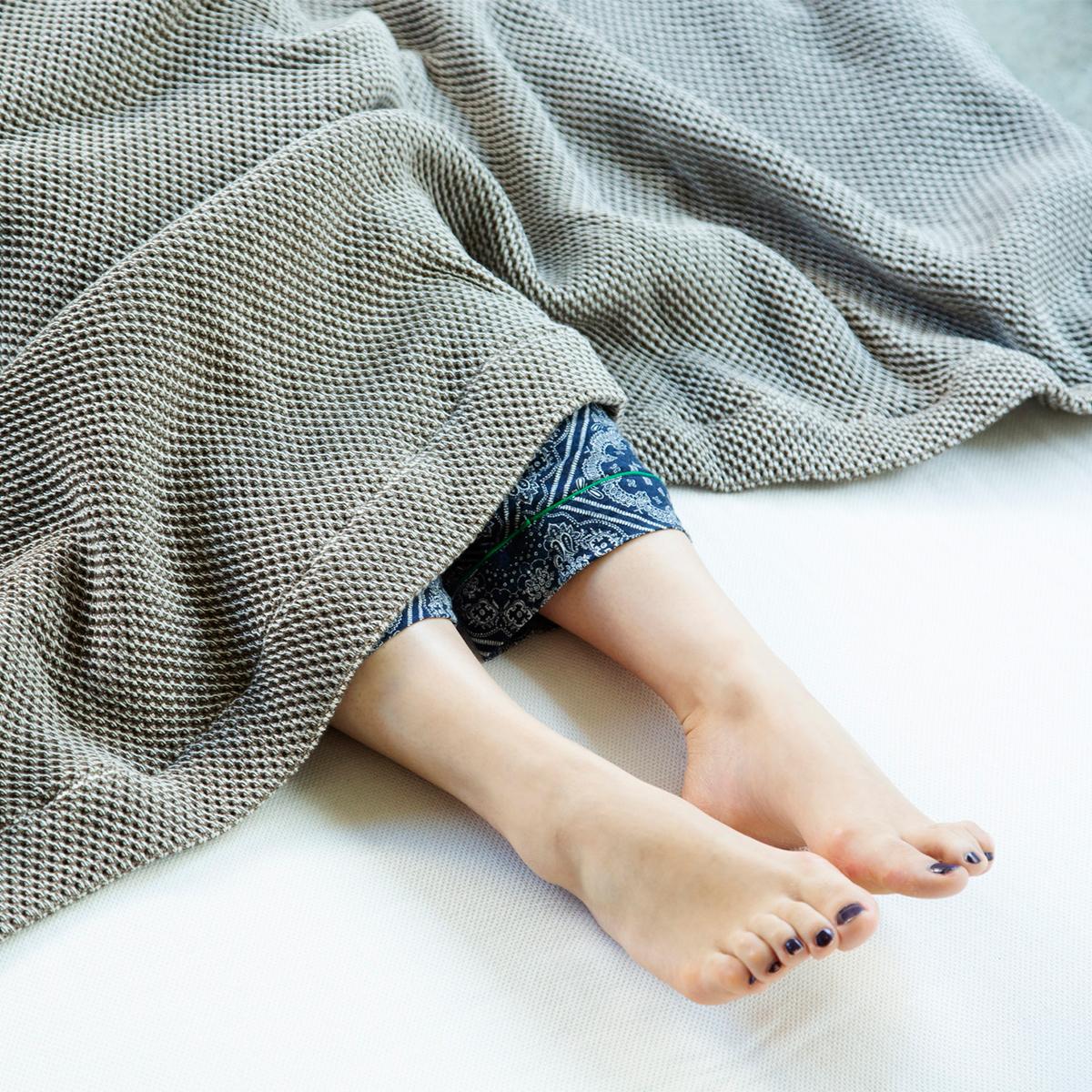 「熟睡」を追求したタオルケット|《ボックスシーツ》凹凸状のハニカム織りが、汗と湿気を逃がすケット|ハニカムケット