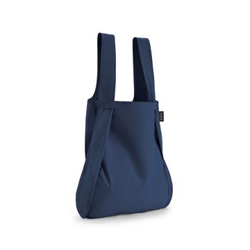 毎日の「散歩」が楽しくなるグッズを集めてみました|《新色》ひっぱるだけ、リュックにもトートにもなる特許構造の「エコバッグ」|notabag|Navy Blue