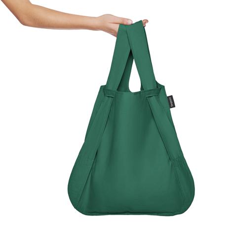 一瞬でリュックになる「変身エコバッグ」|《新色》ひっぱるだけ、リュックにもトートにもなる特許構造の「エコバッグ」|notabag|Forest Green
