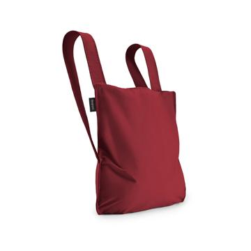 毎日の「散歩」が楽しくなるグッズを集めてみました|《新色》ひっぱるだけ、リュックにもトートにもなる特許構造の「エコバッグ」|notabag|Wine Red