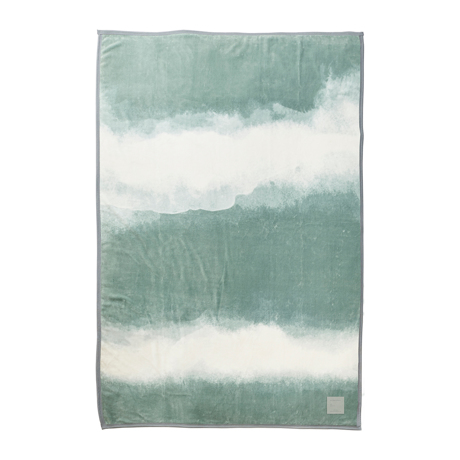 「タイトルのある毛布」が、空間を変える 《シングル毛布》夏も冬も、気持ちいい!綿毛布の自然な柔らかさ FLOOD OF LIGHT(LOOM&SPOOL) カーキ