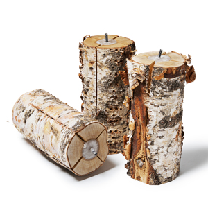 《3本セット》次のキャンプの主役はこれ!キャンドル一体型で一発着火、肉も焼ける「スウェディッシュトーチ」|Swedish Birch Candle
