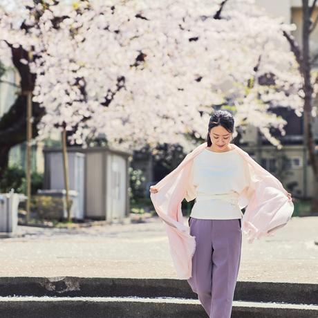 「今日の私、イキイキしてる!」極細カシミヤの効用|大人のパステルカラーと光沢感で、顔色が明るく見える「カシミヤストール」|nagi