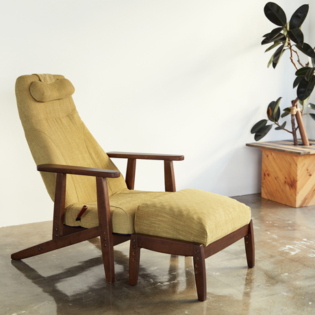 """やみつきになる""""寝落ちチェア"""" 《オプション/オットマン》体にいい姿勢でリラックス!首も腰も好きな角度にできる寝椅子 P!nto"""