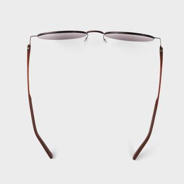 あれ?このサングラス、真下を向いてもズレない!|《ラウンド》新感覚の'ふわっ・ピタッ・ぐにゃ'! 工具を使わず、自分で調整できる「サングラス」|RAWROW - R SUN ULTRA THIN 810|BROWN×GREEN