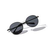 あれ?このサングラス、真下を向いてもズレない!|《ラウンド》新感覚の'ふわっ・ピタッ・ぐにゃ'! 工具を使わず、自分で調整できる「サングラス」|RAWROW - R SUN ULTRA THIN 810|BLACK×BLACK