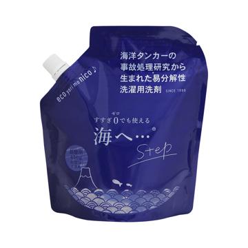 《詰め替えパック450g》これ一つで綿もカシミヤも洗える!キャップ計量もすすぎの手間もいらない洗剤|海へ…Step