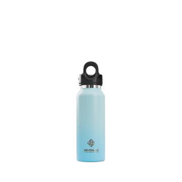 「指3本」で密閉できる魔法瓶|《スリムタイプ 355ml》炭酸もビールも36時間保冷、保温も18時間OKの「マイボトル」|REVOMAX|スカイブルー