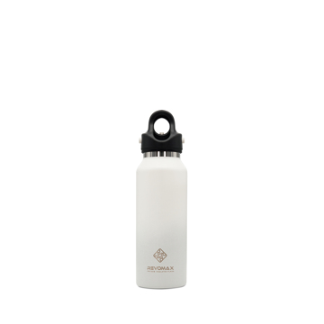 「指3本」で密閉できる魔法瓶|《スリムタイプ 355ml》炭酸もビールも36時間保冷、保温も18時間OKの「マイボトル」|REVOMAX|マットホワイト