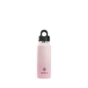 「指3本」で密閉できる魔法瓶|《スリムタイプ 355ml》炭酸もビールも36時間保冷、保温も18時間OKの「マイボトル」|REVOMAX|ベビーピンク