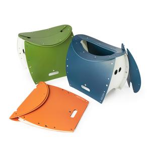 《PATATTO 350+(座面高さ35cm)》座面を外せば、ゴミ箱・防災トイレが出現する「折りたたみイス」|PATATTO