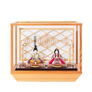 毎年のしあわせを願う「リビング雛人形」|《ガラスケース入り》日本伝統工芸をコンパクトモダンに、美しく守りながら飾れる江戸木目込の「プレミアム親王飾り」※第一期受注分|柿沼人形|清雅雛