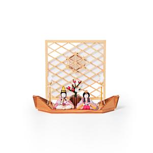 新作《平飾り》日本伝統工芸をコンパクトにした、木目込の「プレミアム雛人形」※第二期受注分 | 清雅雛