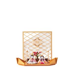《平飾り》日本伝統工芸をコンパクトモダンにした、江戸木目込の「プレミアム親王飾り」※第一期受注分|柿沼人形|清雅雛