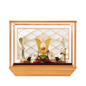 MONOCO限定《ガラスケース入り》5つの日本伝統工芸をコンパクトモダンにした、江戸木目込の「プレミアム兜飾り」※第一期受注分|柿沼人形|清輝