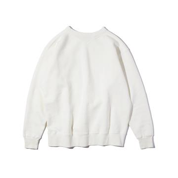 100年前のスウェット、復刻|新作《WHITE/フットボールシャツ》スポルディング社の名作ユニフォームを再構築、肩まわり軽やかなスウェット|A.G. Spalding & Bros|M