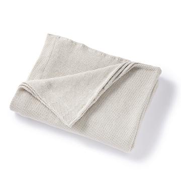 「熟睡」を追求したタオルケット|《秋冬用》ウールを織り込んだ、凹凸状の「ハニカム織り」が暖かさをキープ、汗は逃がす「タオルケット」|ハニカムウールケット|グレー