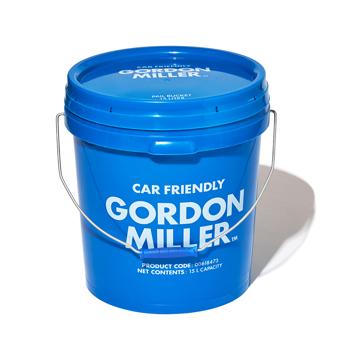 いま、最高にアガる「掃除」!|おしゃれな洗車道具が、水仕事にも収納にも重宝!しっかり密閉できる「フタつきバケツ(17L)」|GORDON MILLER ペールバケツ|ブルー