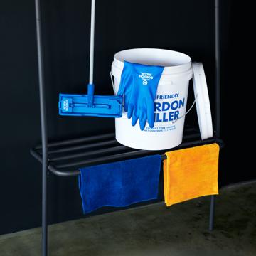 いま、最高にアガる「掃除」!|《お掃除セット》おしゃれな洗車道具で、おうちピカピカ新発想「バケツ+クロス(10P)+モップ+グローブ4点セット」|GORDON MILLER