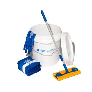 いま、最高にアガる「掃除」!|《お掃除セット》おしゃれな洗車道具で、おうちピカピカ新発想「バケツ+クロス(10P)+モップ+グローブ4点セット」|GORDON MILLER|ホワイト/ソフトビニルグローブ(L)