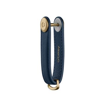 『鍵収納』をデザインする|《サフィアーノレザー》もうドア前で迷わない。「鍵収納」を追求したスリムなキーケース|Orbitkey|Oxford Navy