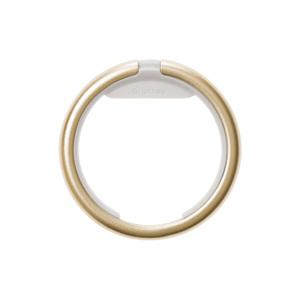 《Orbitkeyオプション》電子キーもスマートタグも付けられるスライド式リング|Orbitkey Ring Yellow Gold&All-Black