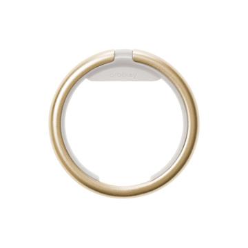 『鍵収納』をデザインする|《Orbitkeyオプション》電子キーもスマートタグも付けられるスライド式リング|Orbitkey Ring Yellow Gold&All-Black