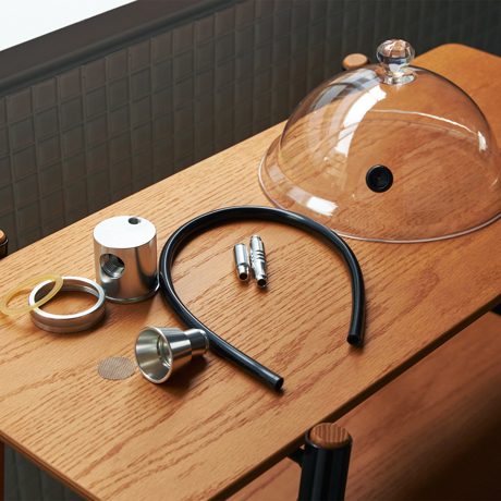 さぁ、今夜も食卓で「I・BU・SHI マジック」!|《オプション/交換用メッシュフィルター》IBUSIST本体の燻製チップ受け皿に取り付ける「専用メッシュフィルター(10枚入り)」|IBUSIST
