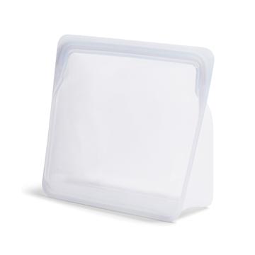 3000回加熱・冷凍できる密閉シリコンバッグ|《3.07L/スタンドアップ メガ》食材の密閉保存から調理まで、これひとつでOK!たっぷり大容量で自立もするマルチバッグ|stasher|クリア