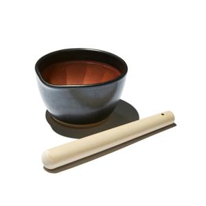 《すり鉢セット/中》鉢の中で、玉子サンドやポテトサラダが完成!そのまま器になる「石見焼のすり鉢(直径14.5cm)+すりこぎ棒(24cm)」|もとしげ