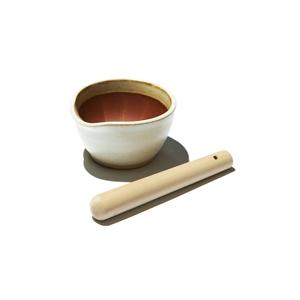 《すり鉢セット/小》鉢の中で、玉子サンドやポテトサラダが完成!そのまま器になる「石見焼のすり鉢(直径11cm)+すりこぎ棒(18.5cm)」|もとしげ