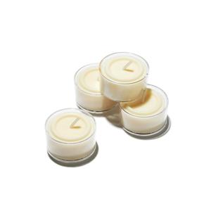 《オプション/交換用》癒しの香りがやさしく広がる、ススが出にくい植物性ワックス使用の「ティーライトキャンドル(4P)」|kameyama candle house