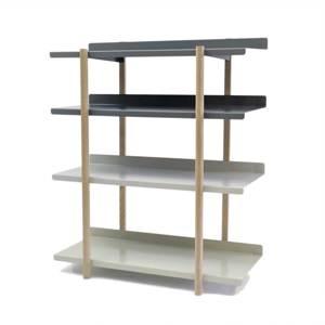 《4段タイプ》色違いの棚板を入れ替えるたびに、新鮮な空間づくりができる「シェルフ」|DUENDE Marge Shelf