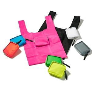 鞄に合わせて選びたい、ココロ躍る8色!スマートに持ち歩ける「折りたたみエコバッグ」|KATOKOA