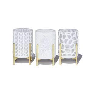 《オプション/キャンドルホルダー》リビングや寝室でキャンドルの灯りと音を楽しむ、スタンド付き「ホワイトグラスホルダー」|kameyama candle house