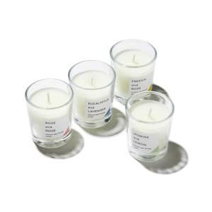 《オプション/キャンドル》香りが広がりやすい植物性の原料配合、グラス入りアロマキャンドル|kameyama candle house
