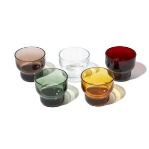 《210ml/5色セット》ずっと割れない保証付き、職人の手で磨いて仕上げた「樹脂製グラス」|双円