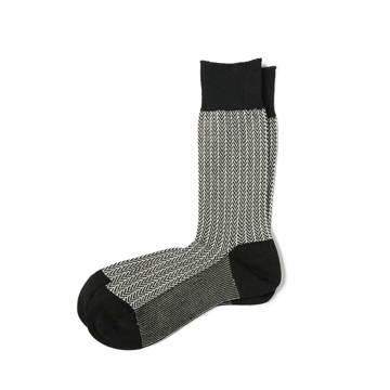 素足より涼しい、はじめての夏|《ビジネス用/25~27.5cm》指先のサラサラが続く!「美濃和紙」の糸で編んだソックス|AMIGAMI|ヘリンボーン/メンズのみ(25~27.5cm)/ブラック