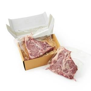 《Tボーンステーキ850g×2個セット(4人分)》ロッキー山脈の雪解け水と牧草が育む、上質の赤身肉|COWMAN STEAK CLUB