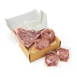 《Tボーンステーキ850g(2人分)&ハンバーグ4個セット》ロッキー山脈の雪解け水と牧草が育む、上質の赤身肉|COWMAN STEAK CLUB